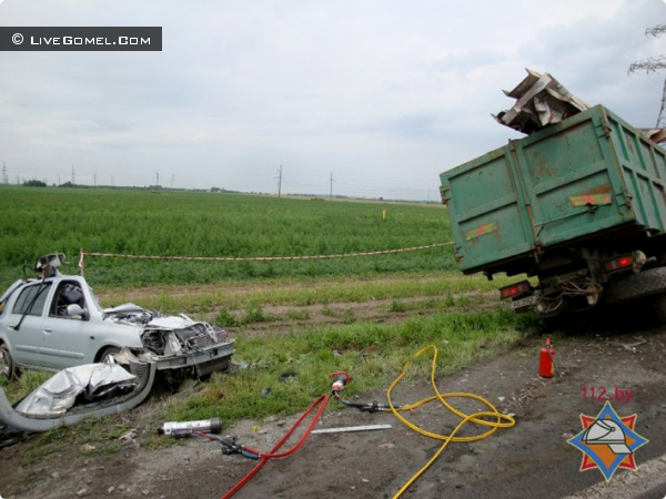 Авария под Гомелем 5 жертв