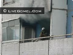 Пожар балкона в Гомеле