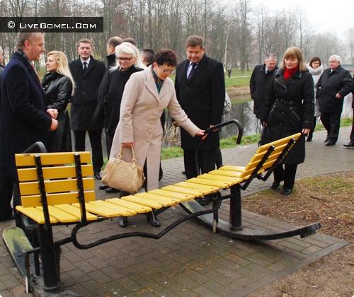 Черниговские депутаты увезли из Гомеля идею создания Аллеи влюблённых