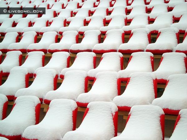 Зимний сон стадиона.