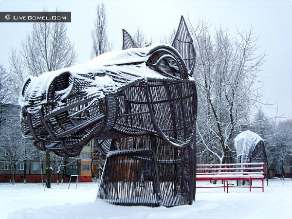 Зимнее утро стальной лошади.