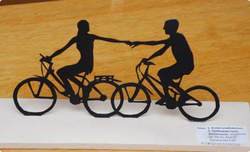 """Скульптура """"Велосипедисты"""". Анастасия Грученкова, БелГУТ."""