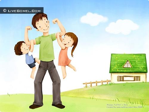 Дети нарисуют самого лучшего папу