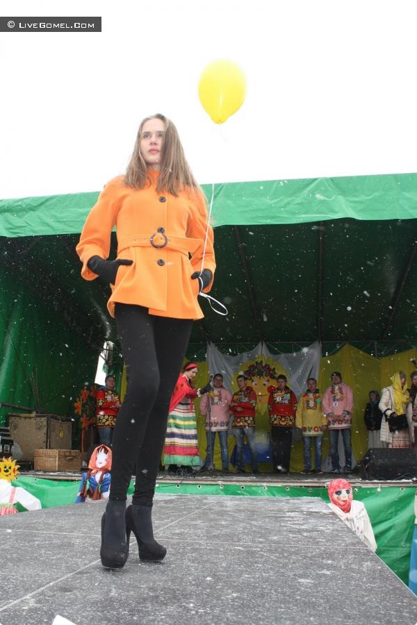 Модный показ  в рамках районного народного гулянья  «Масленица»