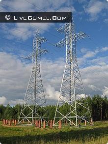 Линия электропередачи по всей Беларуси
