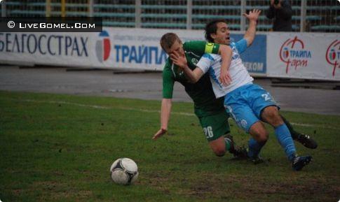 Первый тайм матча Гомель - Динамо (Минск) 0:2