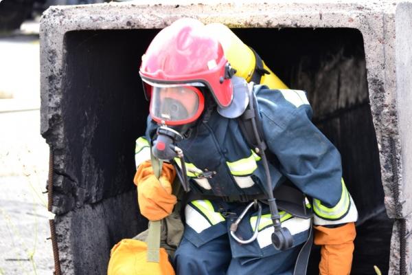 Гомельские пожарные продемонстрировали готовность к ликвидации ЧС