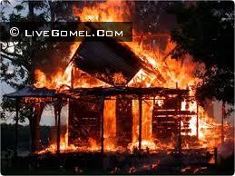 Пожар в деревне Красный берег