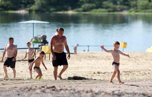 Новый пляж в Гомеле: Роповское озеро вдоль улицы Хмельницкого