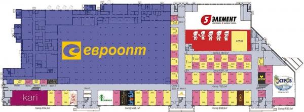 «Мандарин Плаза» план 1 этажа