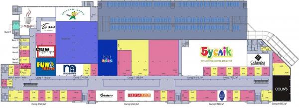 «Мандарин Плаза» план 2 этажа