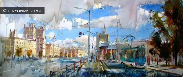 Под Мозырем проходит международный пленэр художников. Итогом станет выставка в Гомеле