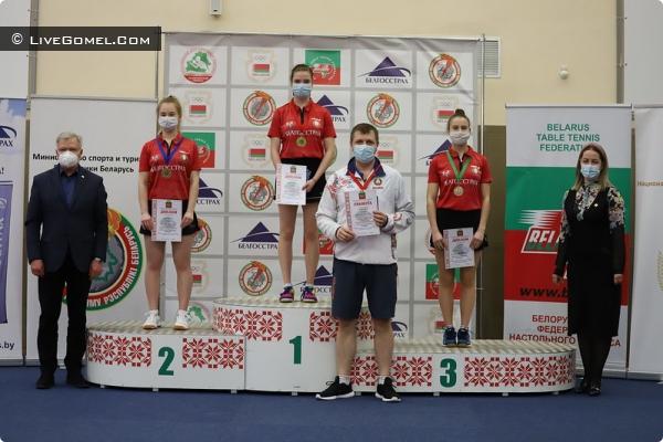 Абсолютной чемпионкой по настольному теннису, стала гомельчанка Дарья Василенко