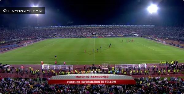 Сербия - Албания. Прерванный матч + видео