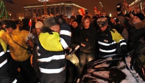 Фотографии с акции протеста в Минске